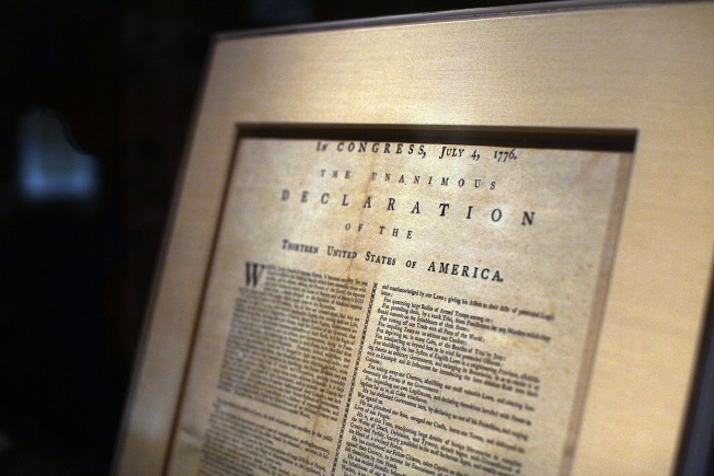 Declaration of Independence on Display in Hartford
