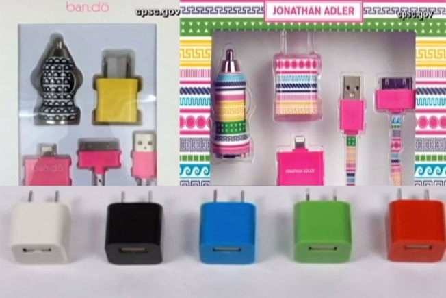 Phone Chargers and Adapters Recalled