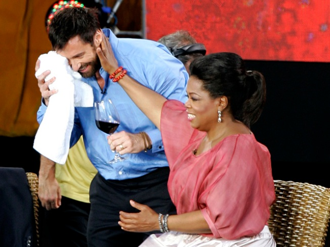 """Oprah"" Stunt Leaves Mark on Hugh Jackman"