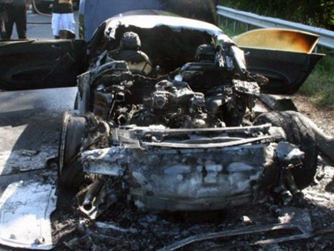 Powerball Winner's $140K Car Bursts Into Flames