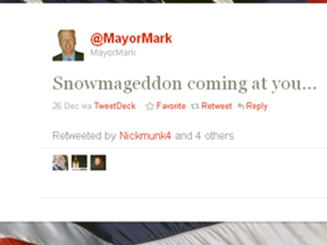 Mayor Boughton Tweets His Way Through Snowmageddon