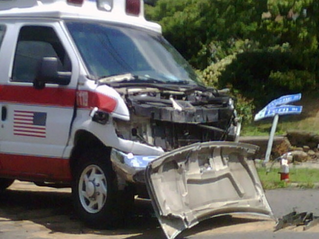 6 Hospitalized After Suburban, Ambulance Collide