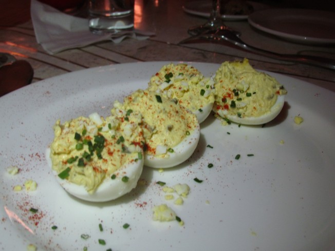 Deviled Eggs Nouvelle with Chipotle Mayo