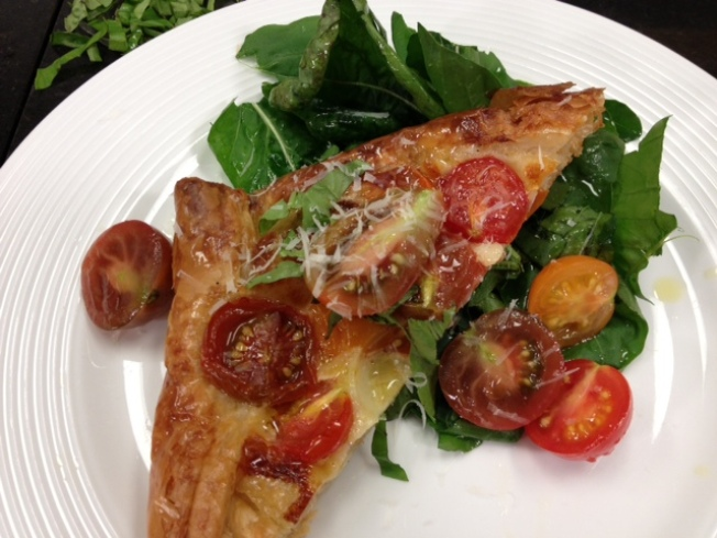 Crispy Native Tomato, Basil, and Mozzarella Pie