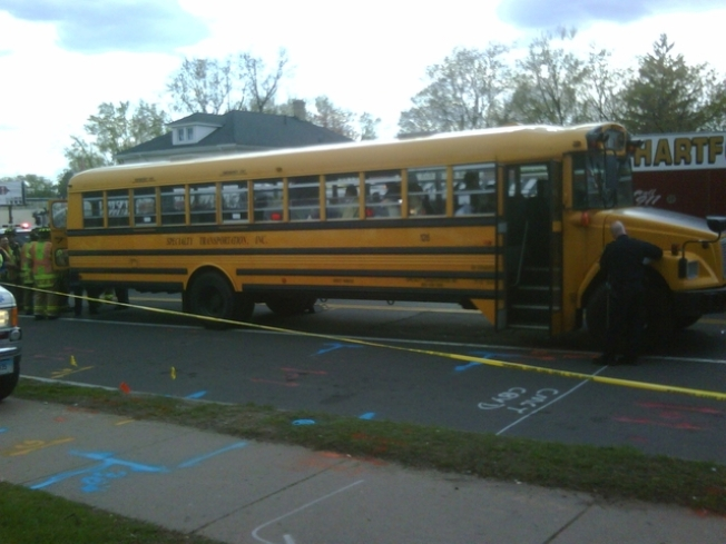 Hartford School Bus Crash Sends Students To Hospital