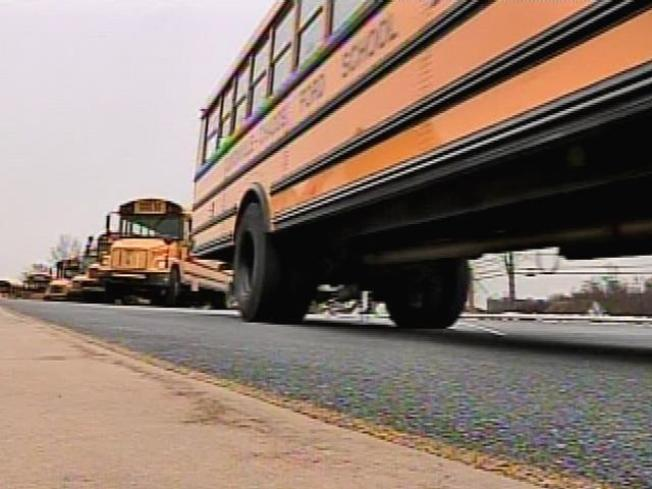 Driver Suffers Minor Injuries in School Bus Crash