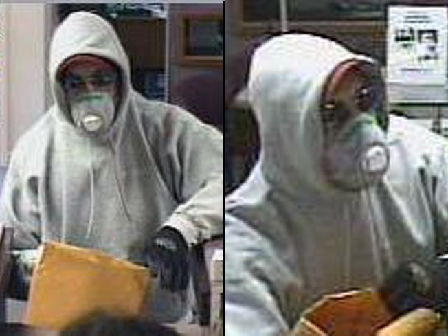 Man in Gas Mask Robs Somers Bank