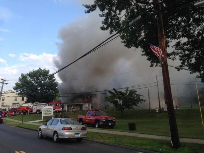 Crews Extinguish Fire at Apartment Building in Terryville