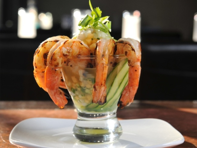DJ Chef's Smokey Shrimp & Lobster Martini