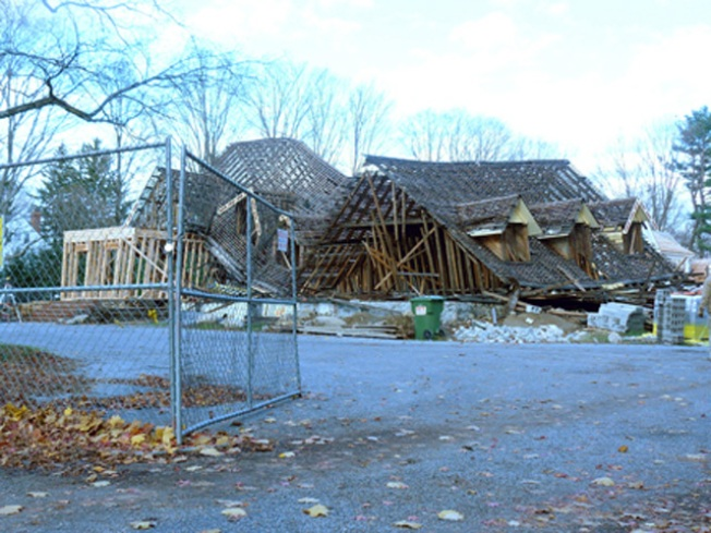 Roof Collapses at New Canaan Property
