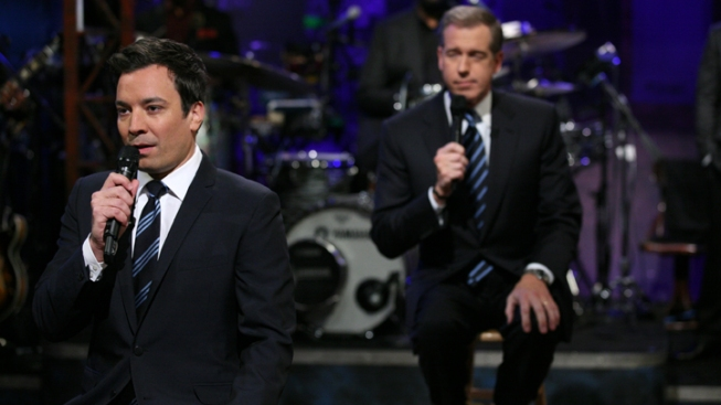 "Jimmy Fallon and Brian Williams Get ""Super Freaky"" for Super PACs"