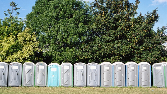 Cops Find Naked Suspect at Bottom of Port-a-Potty