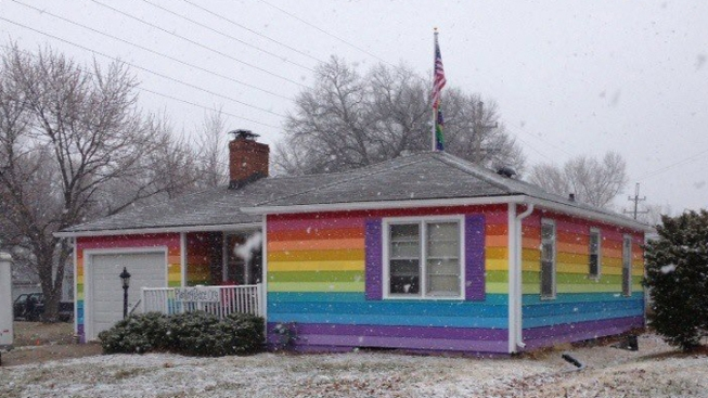 Anti-Gay Church Gets Gay Pride House Across the Street