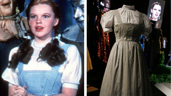 "Judy Garland's ""Oz"" Dress Fetches $480K in Auction"