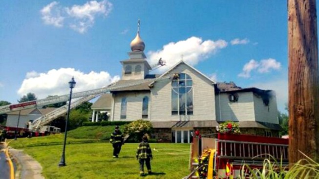 4-Alarm Fire Damages Danbury Church