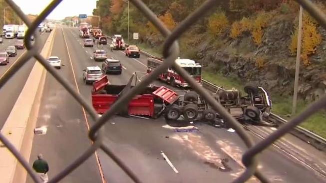 I-95 North Reopens After Fatal Dump Truck Crash in Milford