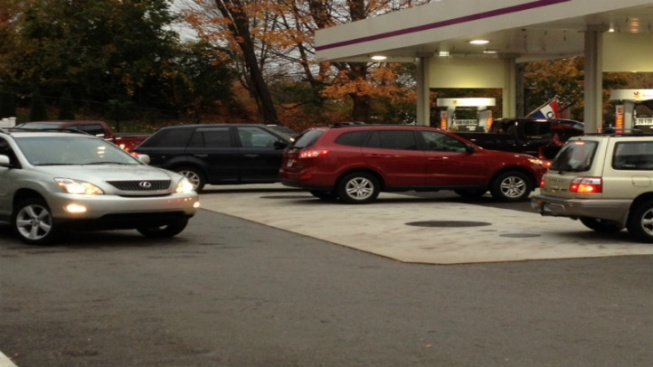 Lines Forming at Gas Stations