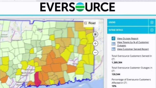 Cl P Power Outage Map.Heavy Snow Leads To Thousands Of Power Outages Nbc Connecticut