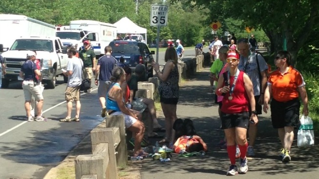 Half Marathon Runners Affected by the Heat
