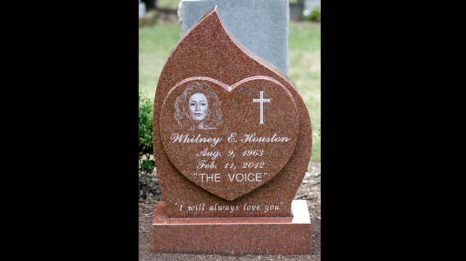 """""""I Will Always Love You"""" Inscribed on Whitney Houston's Headstone"""
