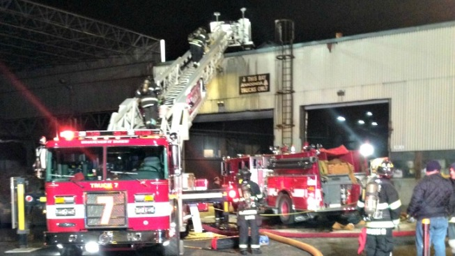 Firefighters Battled Blaze at Ansonia Factory