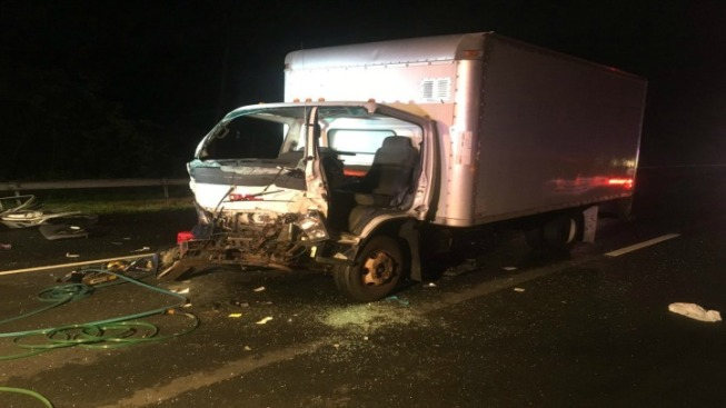 Trapped Driver Pulled from Truck After Crash on I-84 in Tolland