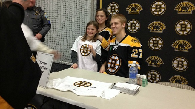 Bruins Spend Day in Newtown