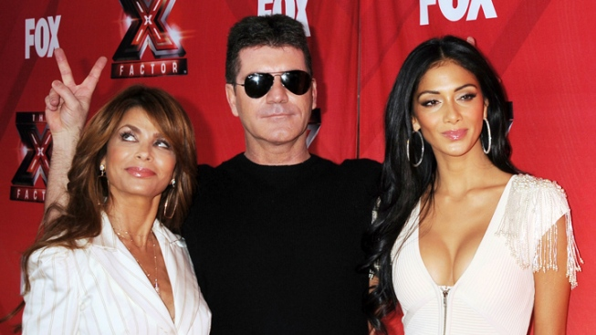 "Paula, Nicole, Steve Out at ""X Factor"""