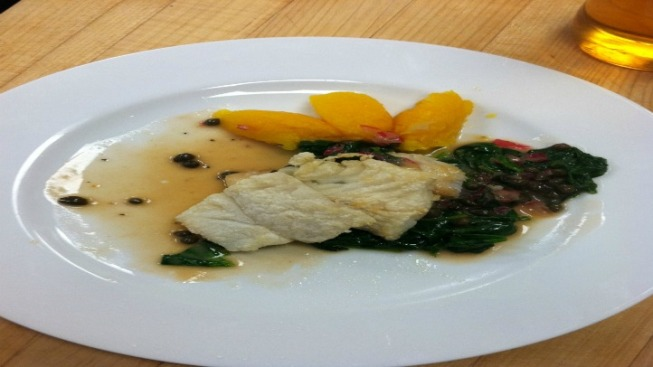 Sauteed Cod with Lemon, Parsley and Caper Butter Sauce