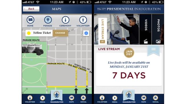 Inauguration: There's an App for That