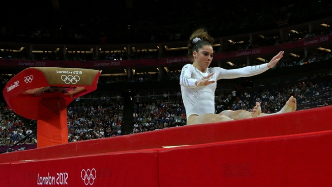 Maroney Falls, Izbasa Wins Gold on Vault