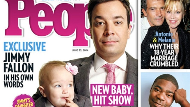 Jimmy Fallon and Daughter Winnie Wear Matching Suits and Ties for People Magazine