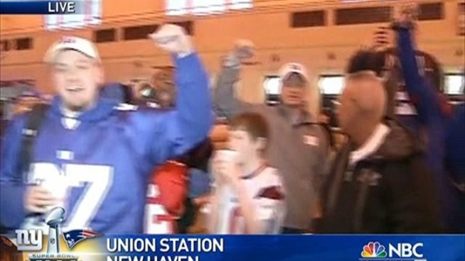 Fans were heading to Union Station to get to New York for the victory parade.