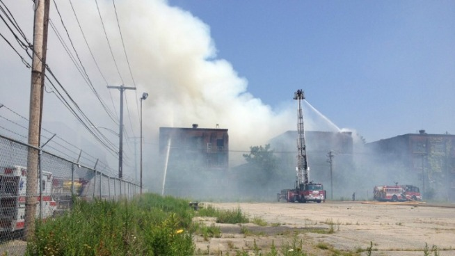 Factory Fire in Bridgeport