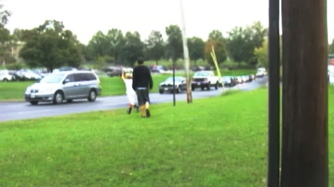A Frederick County high school student was hit and chased by a bully -- right in front of a TV crew.