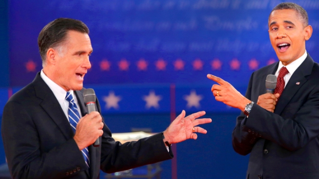 President Obama and Gov. Romney go after each other in the second of three presidential debates.