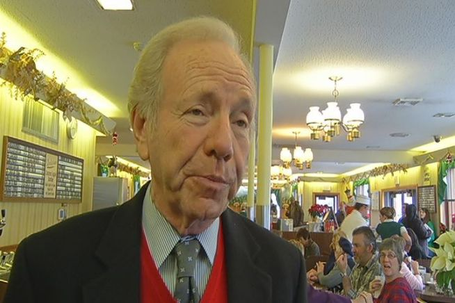 Sen. Joseph Lieberman did something on Wednesday he has done 180 times during his long career; he visited Connecticut's diners.