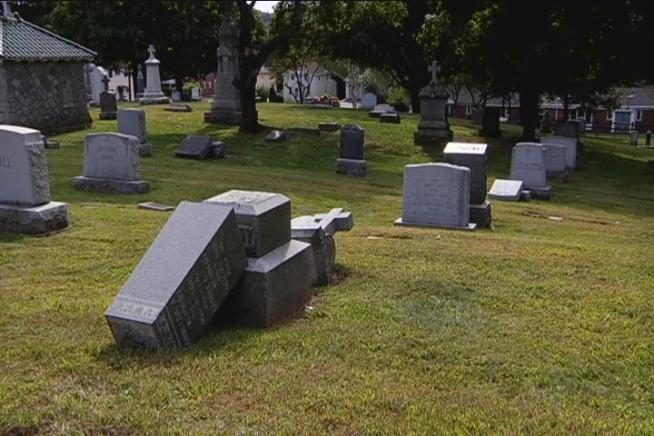Vandals Hit Torrington Cemetery