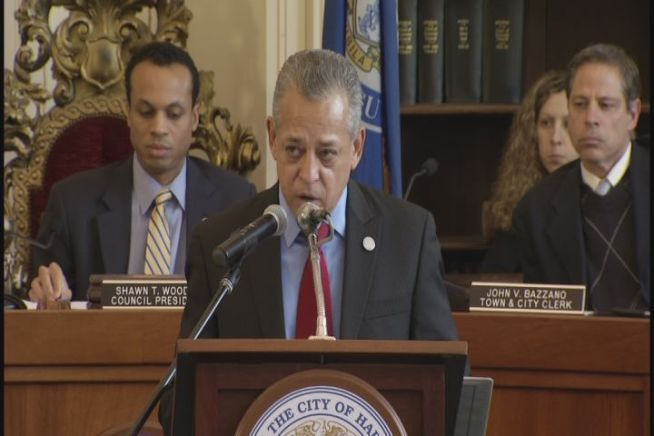 During his state of the city address, Hartford Mayor Pedro Segarra announced this is the first time in decades that the city has experienced no homicides this late into the year.