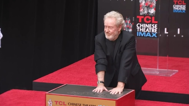 Ridley Scott Honored With Hand, Footprint Ceremony in Hollywood