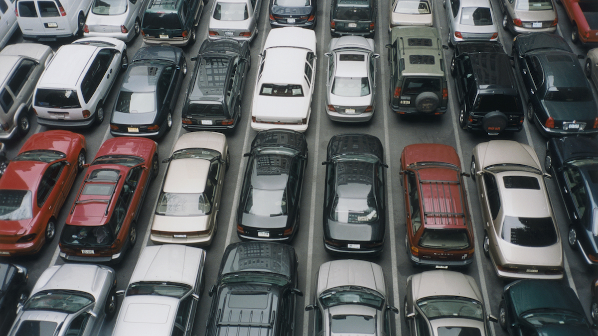 File - Automobiles in Parking Lot