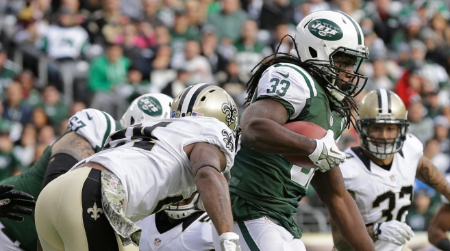Jets Run Over Saints in Upset Win