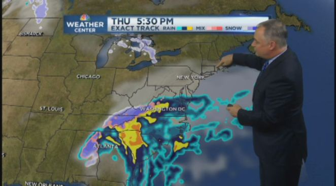 NBC Connecticut's Bob Maxon takes a look at the midday forecast for January 16, 2013.