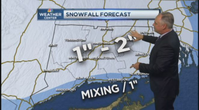NBC Connecticut Meteorologist Bob Maxon takes a look at the snowy forecast for November 27, 2012.