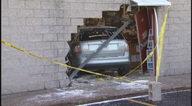 NBC Connecticut was first on the scene after a SUV crashes into a BJ's Wholesale Club in Waterbury.