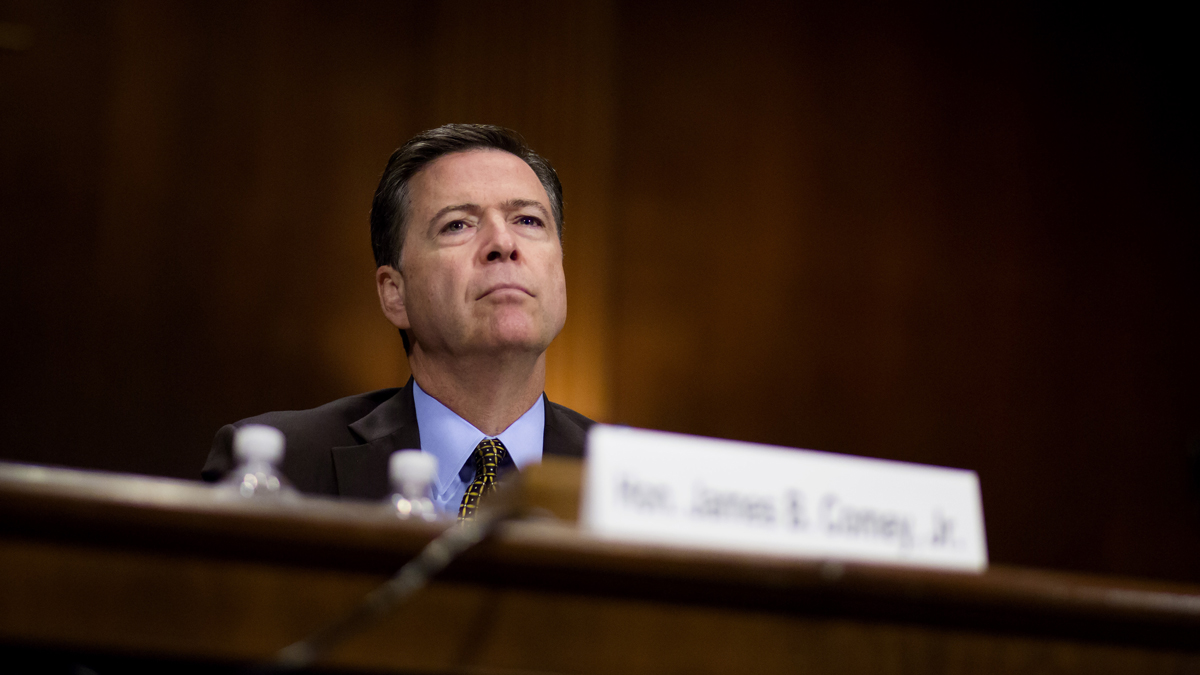 FBI Director James Comey testifying in front of the Senate Judiciary Committee during an oversight hearing on the FBI May 3.