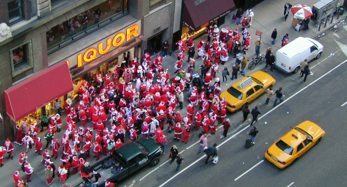 "Santa Bar Crawl Makes NYPD's ""Naughty"" List"