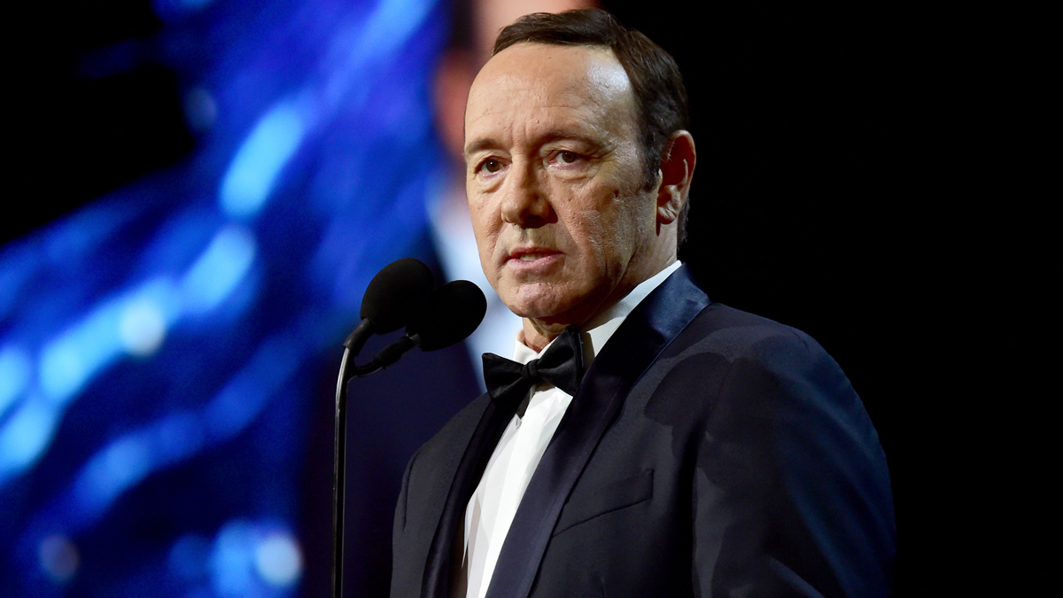 In this Oct. 27, 2017, file photo, Kevin Spacey speaks at the 2017 BAFTA at the Beverly Hilton Hotel in Beverly Hills, California.