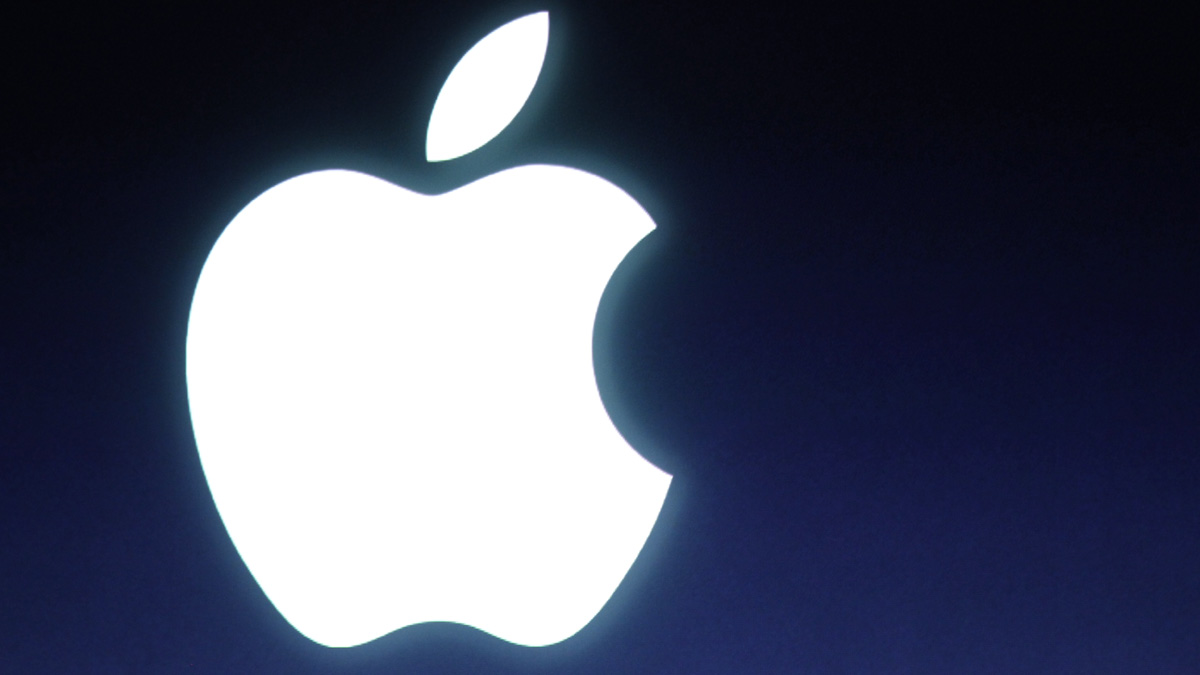 FILE - In this Tuesday, Oct. 4, 2011 file photo, an Apple logo is seen during an announcement at Apple headquarters in Cupertino, Calif.