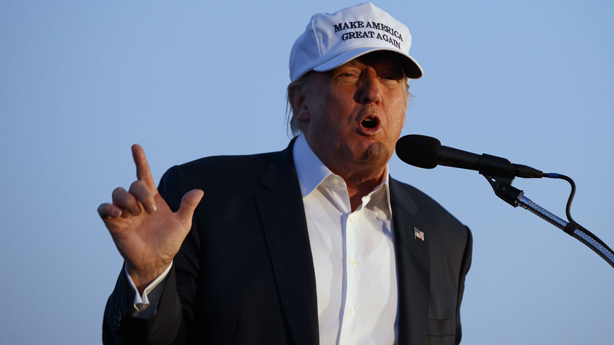 In this Sept. 17, 2016, file photo, Republican presidential candidate Donald Trump speaks during a campaign in Colorado Springs. A new NBC News/Wall Street Journal poll shows that nearly 70 percent of American voters have concerns about the candidate's controversial comments about certain groups.